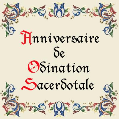 Anniversaire Ordination sacerdotale