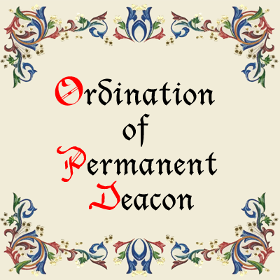 Ordination of Permanent Deacon