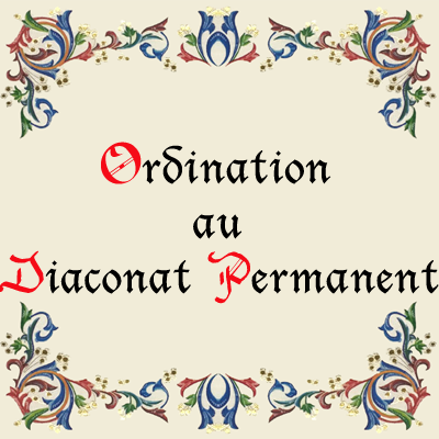 Ordination au Diaconat permanent